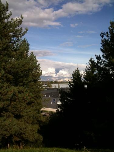trees sky cloud clouds landscape view hill cas overview