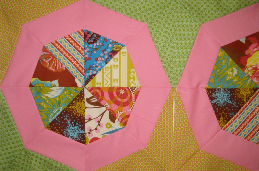 Spinning Stars Pink Block