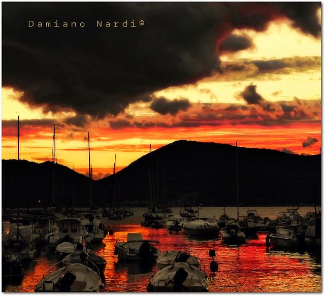 Lerici - Porticciolo al tramonto -