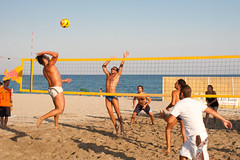 competition event(0.0), tournament(0.0), volleyball player(1.0), ball over a net games(1.0), volleyball(1.0), play(1.0), sports(1.0), team sport(1.0), ball game(1.0), beach volleyball(1.0), ball(1.0),