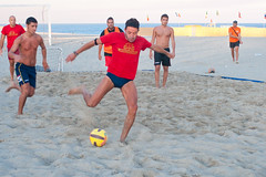 sand, play, sports, beach soccer, team sport, football, ball game, ball,