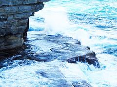 arctic ocean, water, ocean, wind wave, wave, coast, rock,
