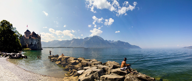 One afternoon in Chillon, Switzerland