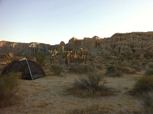 My tent in the desert