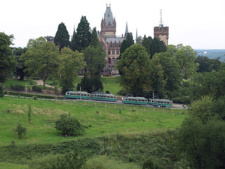 Drachenfelsbahn, Drachenburg castle, July 31, 2011