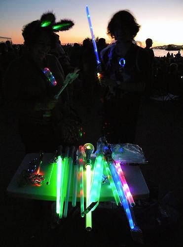 fireworks light wands