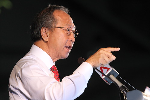 Tan Cheng Bock at his rally, Aug 25