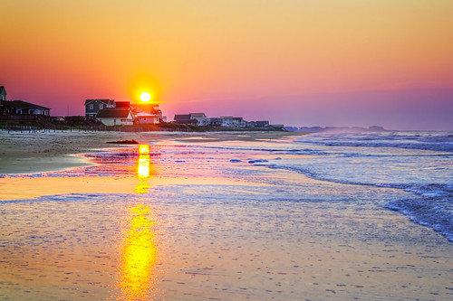 beach sunrise hurricane north carolina irene holden