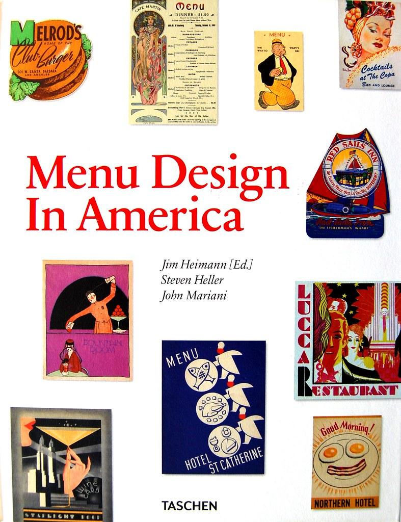 Menu Design in America book cover