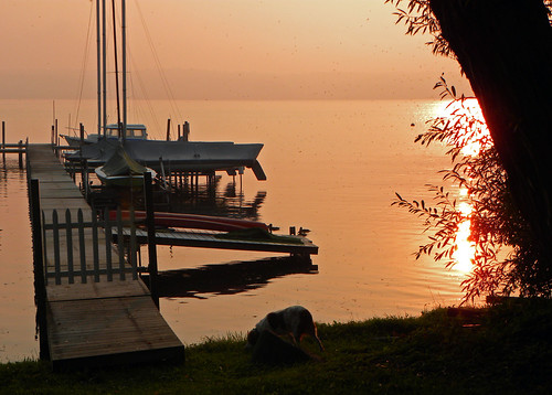 lake water sunrise boats nikon chautauqua