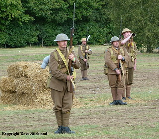 Lest We Forget - 'The Great War' re-enactors salute the fallen