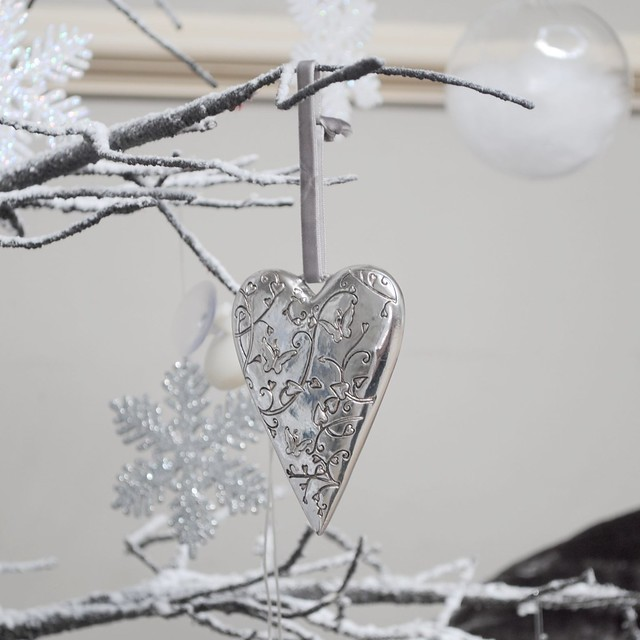 Ornate hanging heart ornament