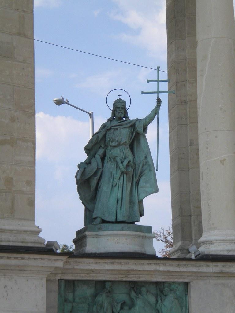 I. Szent István en el Millenniumi emlékmű