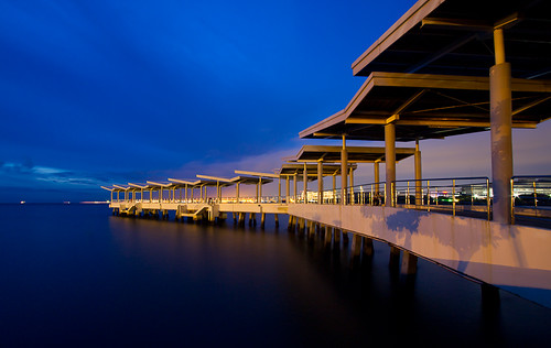 longexposure bridge blue sky water lines canon pier twilight dusk jetty philippines sm 7d manila moa manilabay pasay 1022mm smmallofasia