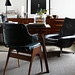 James Geer / Inside Out {black, white and wood eclectic vintage mid-century modern living room}