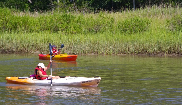 Flat water is a great place to learn kayaking