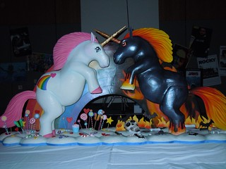 Unicorn cake at Sparklecorn