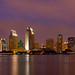 San Diego Skyline at Night by eramos_ca