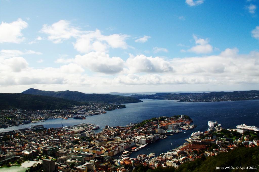 Vista de Bergen des del Mont Fløyen