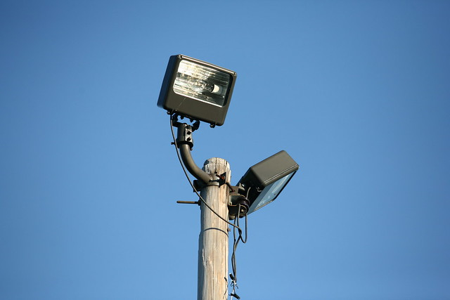 Utility pole with lights | Flickr - Photo Sharing!