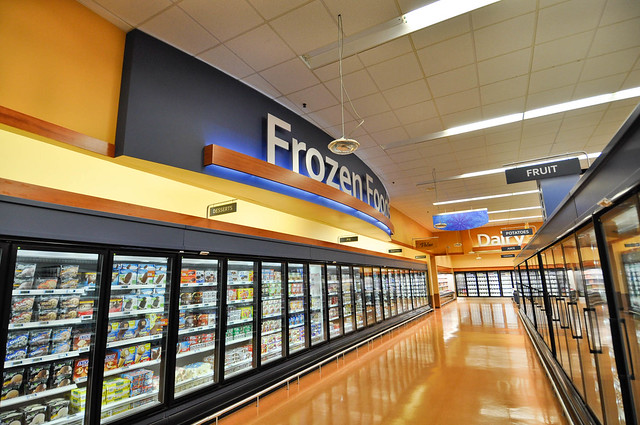 Interior Grocery Design | Frozen Foods Design | Interior Decor Design | Freezer Section Design