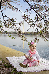 Bella Porter in DC with Washington Monument