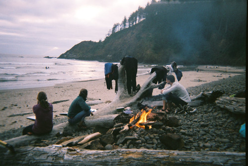 Evening Fire - Indian Beach, Oregon