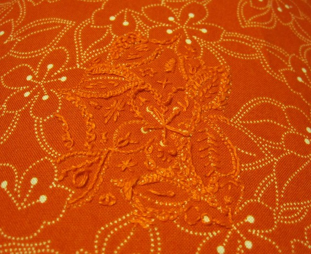 Orange stitch doodling