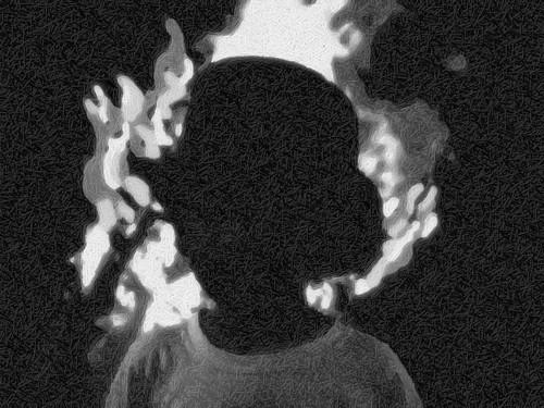 Fiery Martin bw by paynehollow