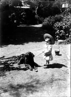 Jean et son chien, Foix, 19 août 1901