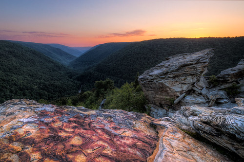 park sunset mountains colors rock scenic westvirginia valley blackwater overlook hdr lindypoint