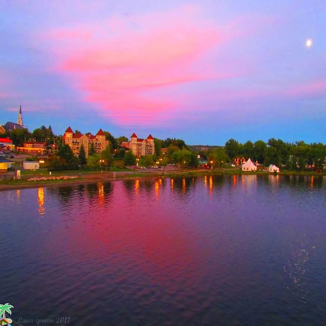 Crépuscule au lac Memphrémagog