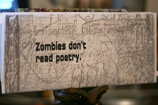 Zombies don't read poetry snail mail from deadmailart