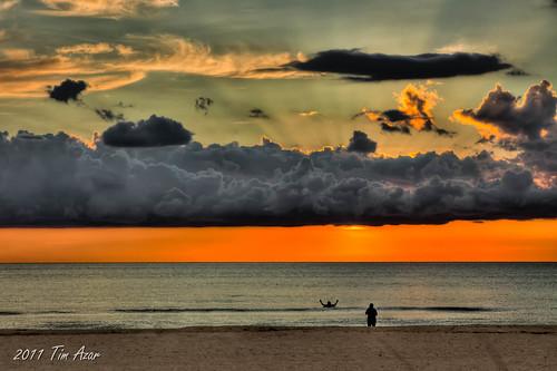 ocean sunset orange beach water clouds landscape sand florida shoreline hdr marcoisland dfine 3exposures photomatixpro4 timazar hiltonmarcoislandresort