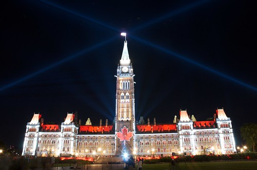 Mosaika Light Show on Parliament Hill