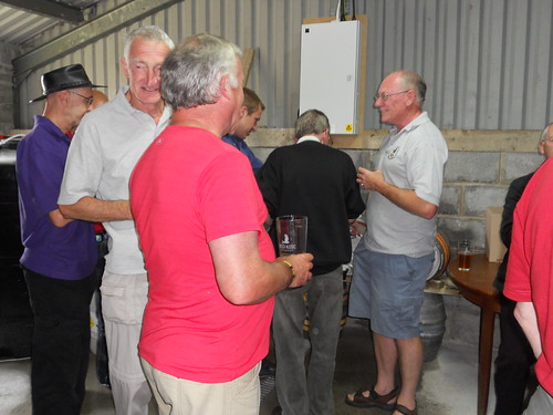 The Carmarthen CAMRA group at the Kite Brewery