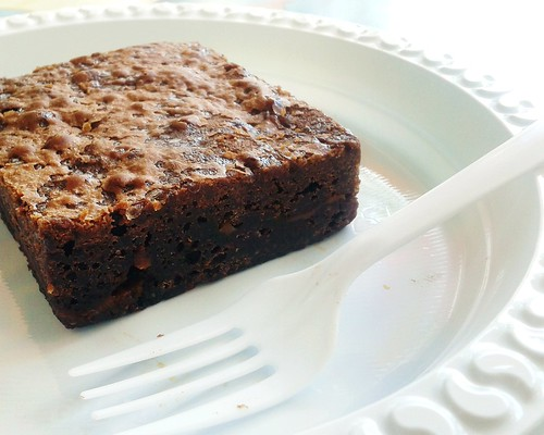 sea salt caramel brownie