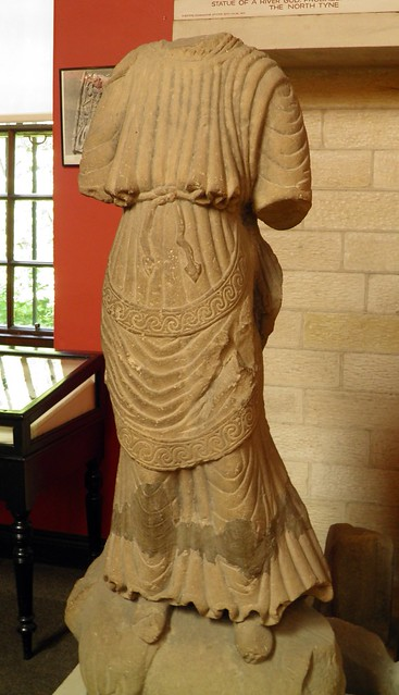 Statue of Juno Regina standing on a heifer, Chesters Roman Fort Museum