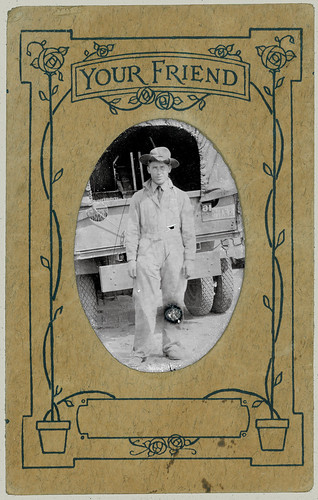 Tintype Man and Truck