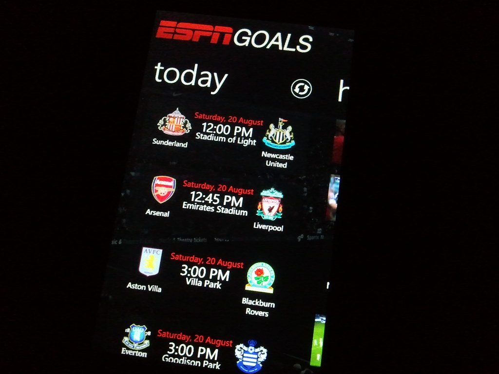 U Must Have Espn Goals In Ur Wp7 Phone If U Love Epl Fixt