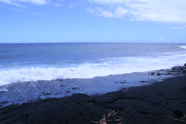 Kaimu Black Sand Beach Big Island Hawaii