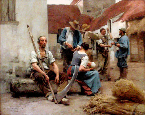 Léon Lhermitte: Paying the Harvesters (1882)