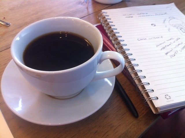 Coffee and plans from Flickr via Wylio