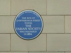 Photo of Fabian Society blue plaque