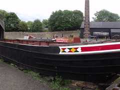 Black Country Living Museum - canal arm -  Castle Fields Boat Dock - narrowboat
