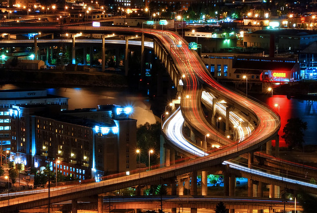 Marquam Freeway Light Trails
