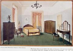 Furniture for H.R.H. The Duke of Gloucester built by Ed. Rosenstengel, Fortitude Valley, Brisbane, 1934