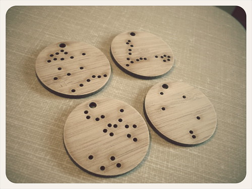 Constellation pendants: these will be embroidered and then hung as necklaces