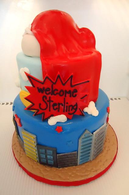 superman babyshower cake flickr photo sharing