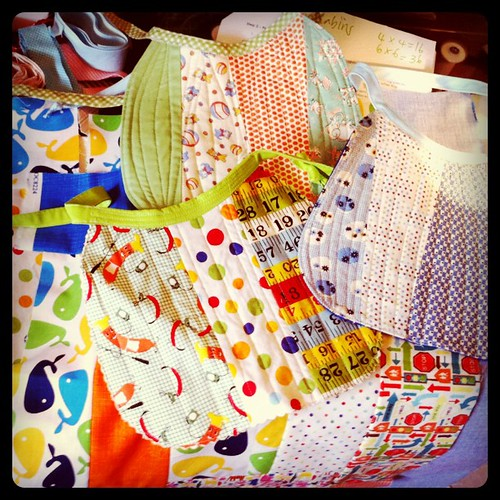 Sunday baby bib and quilt sewing | by craftapalooza